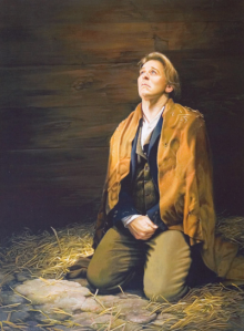 Joseph Smith prays in Liberty Jail.