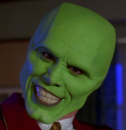 film: The Mask. No convincing change in the masked protagonist.