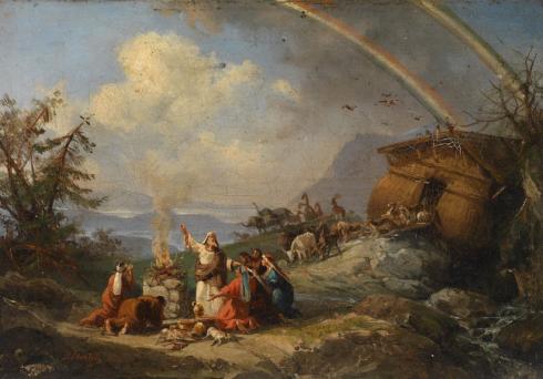 Noah's Dankgebet by Dominico Morelli